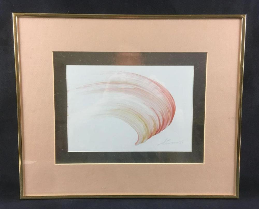 Lot 31: Thomson Red Brush Stroke Painting