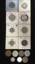 Lot 32: Vintage Asian and South American Coin Lot