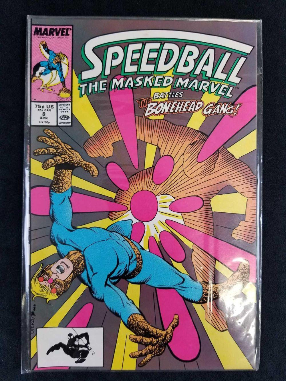 Lot 33: Lot of 5 Speedball The Masked Marvel Comics
