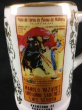 Lot 38: Recuerdo De Barcelona Bullfighting Travel Mug