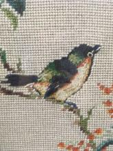 Lot 37: Framed Needlepoint Bird