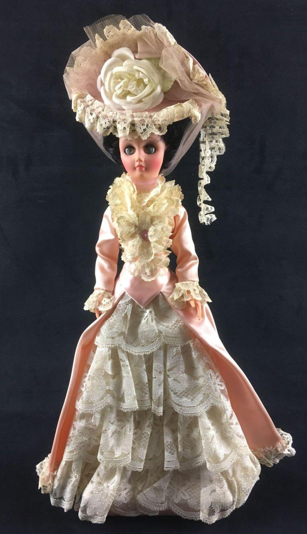 Lot 4: Victorian Lace and Satin Dress Doll