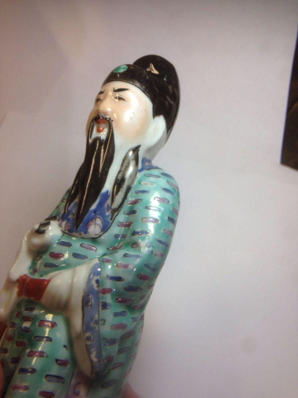 Lot 47: Antique Chinese Porcelain Wise Man