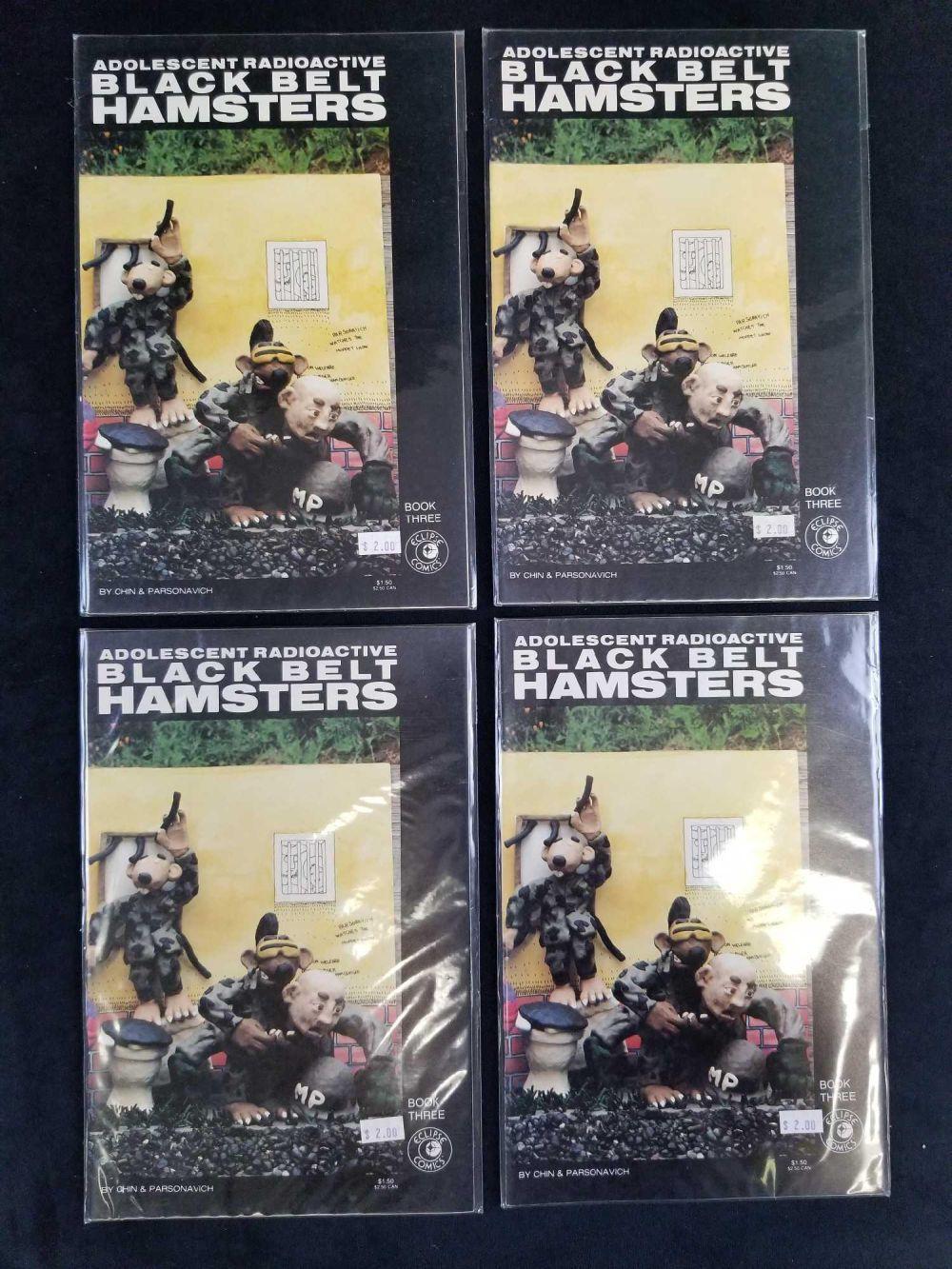 Lot 43: Lot of 9 Adolescent Radioactive Blackbelt Hamsters Comics