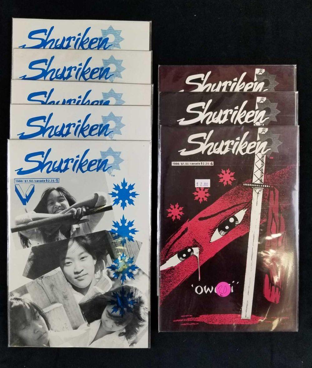 Lot 54: Lot of 8 Shuriken 1986 Comics