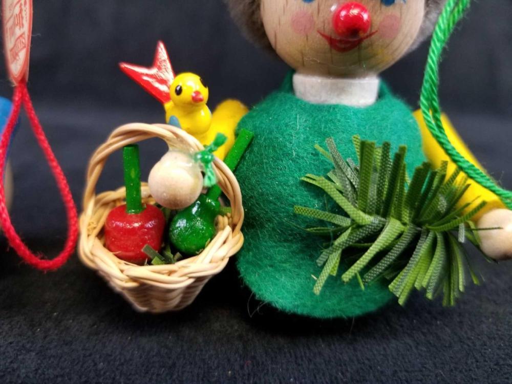 Lot 6: Set of 2 Steinbach GMBH German Wooden Toy Ornaments B