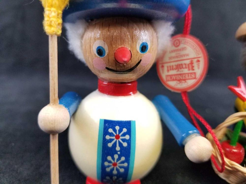 Lot 6: Set of 2 Steinbach GMBH German Wooden Toy Ornaments B