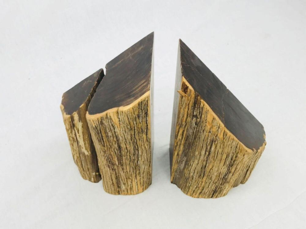 Lot 67: Pair of Vintage and Unique Exotic Hard Wood Bookends