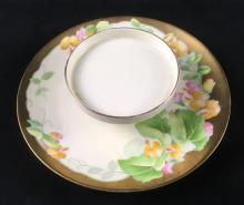 Lot 68: Hand Painted Bavarian Hand Painted Appetizer Plate