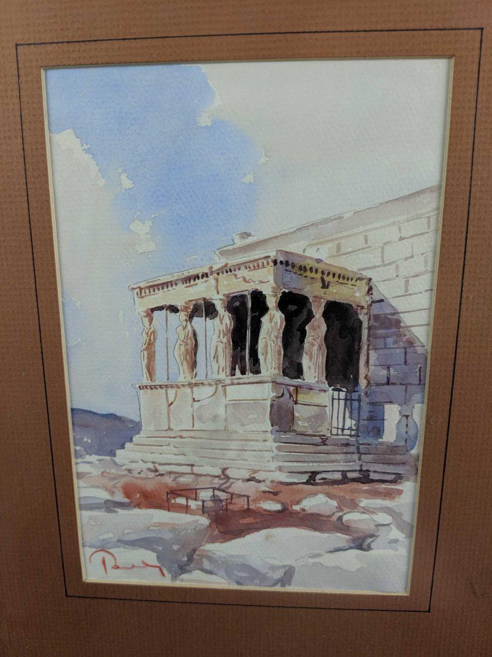 Lot 73: Original Water Color Of Greek Acropolis