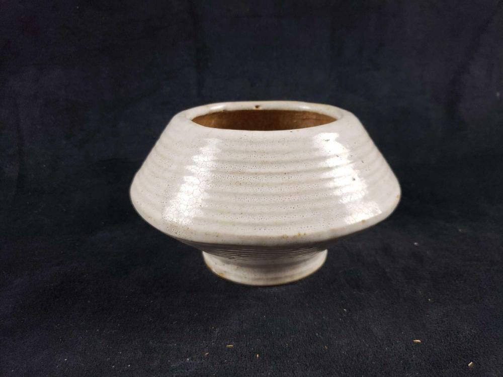 Lot 79: Salt Glaze Footed Bowl