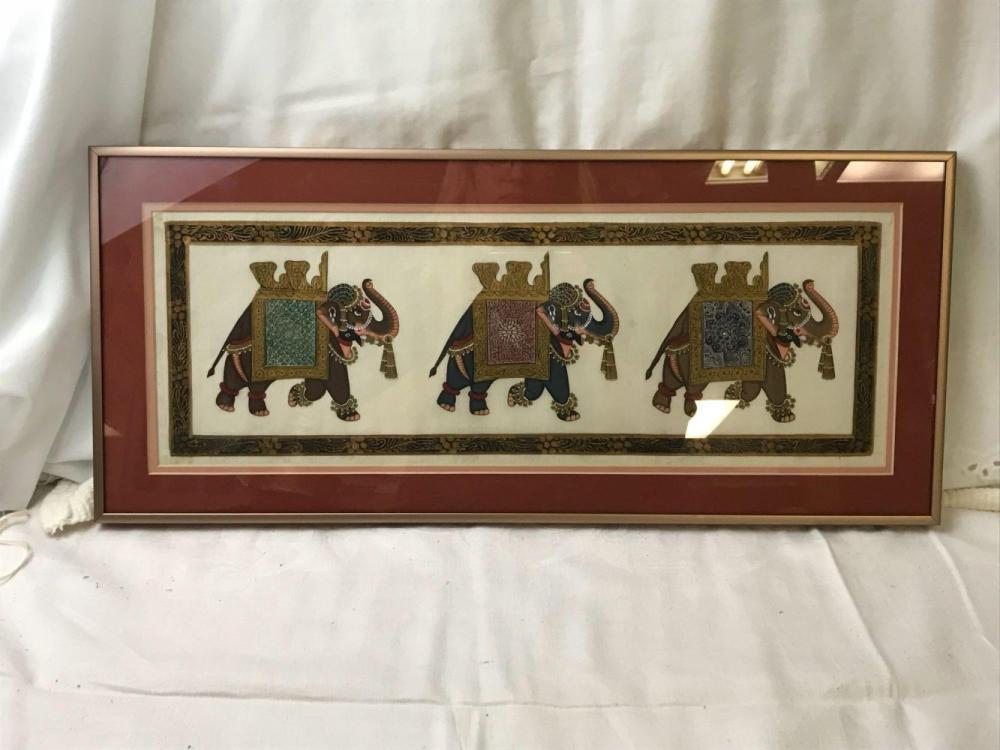 Lot 80: SetOfIndian Elephant Paintings