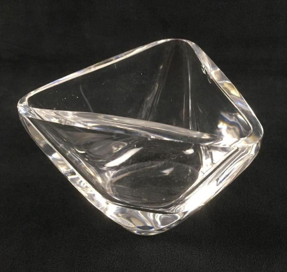 Lot 82: Triangular Art Glass Dish