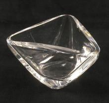 Lot 82: Triangular Art Glass Dish