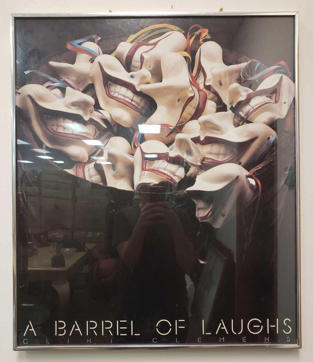 A Barrel of Laughs Clint Clemens Framed Poster