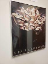 Lot 85: A Barrel of Laughs Clint Clemens Framed Poster