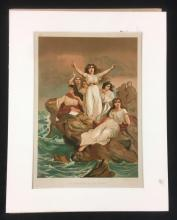 Lot 89: Las Druidesas De Las Gallas R Marti Color Print