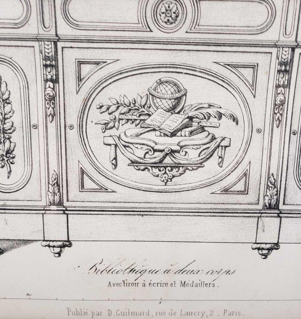 Lot 9: Desire Guilmard Le Garde Meuble Ancien et Moderne Framed French Decorative Art Lithograph