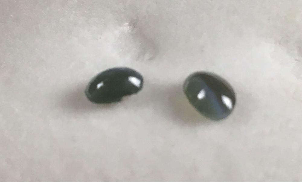 Lot 97: 2 Loose Cat Eye Chrysoberyl Gems Weighing Total .84 Carats