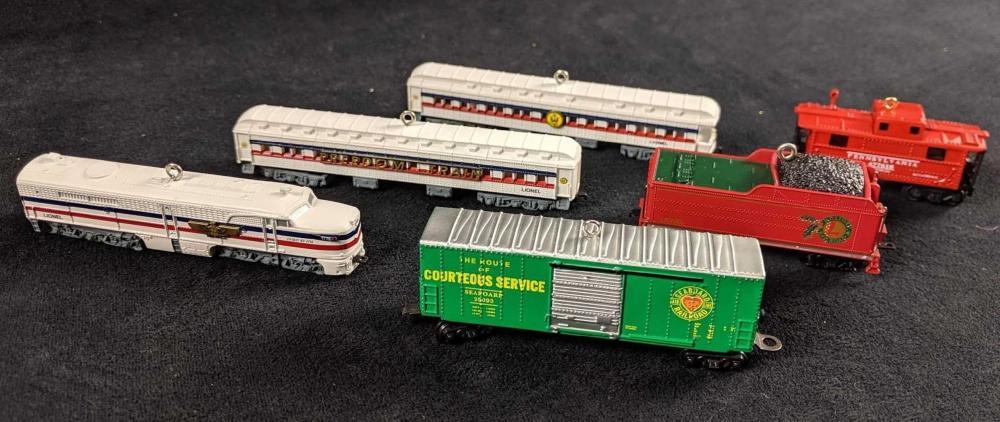 Lot 309: Lionel Train Ornaments Hallmark Keepsake Lot of 6