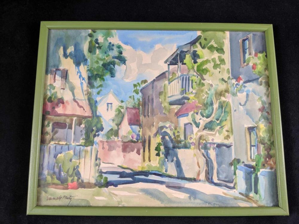 Lot 314: Original Watercolor By Florida Artist Emmett John Fritz
