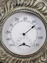 Lot 312: Foam Indoor or Outdoor Thermometer and Clock