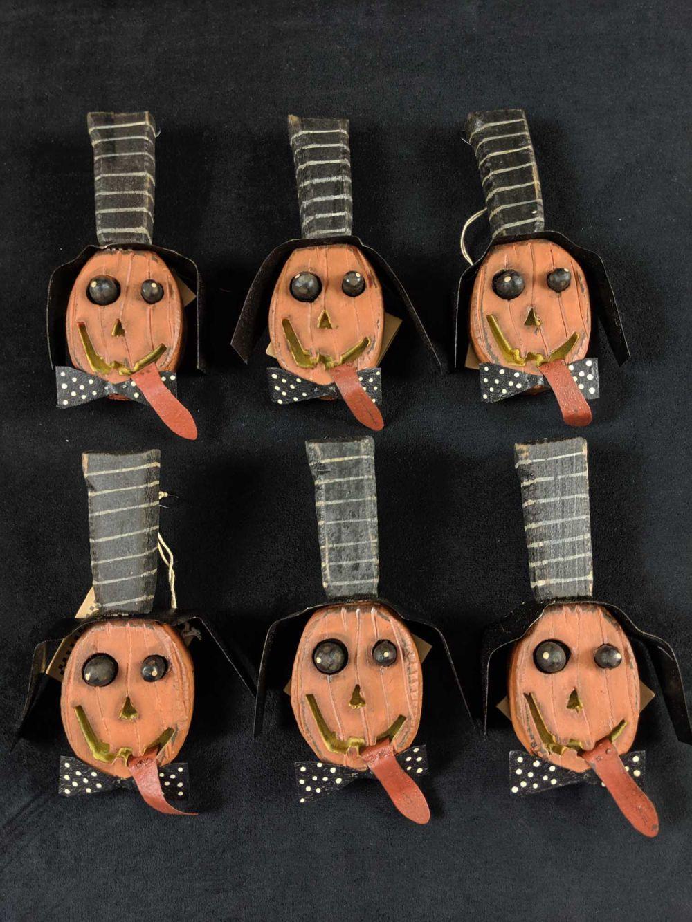Lot 317: Lot Of Six Halloween Dan Dipaolo Folk Pumpkin Art