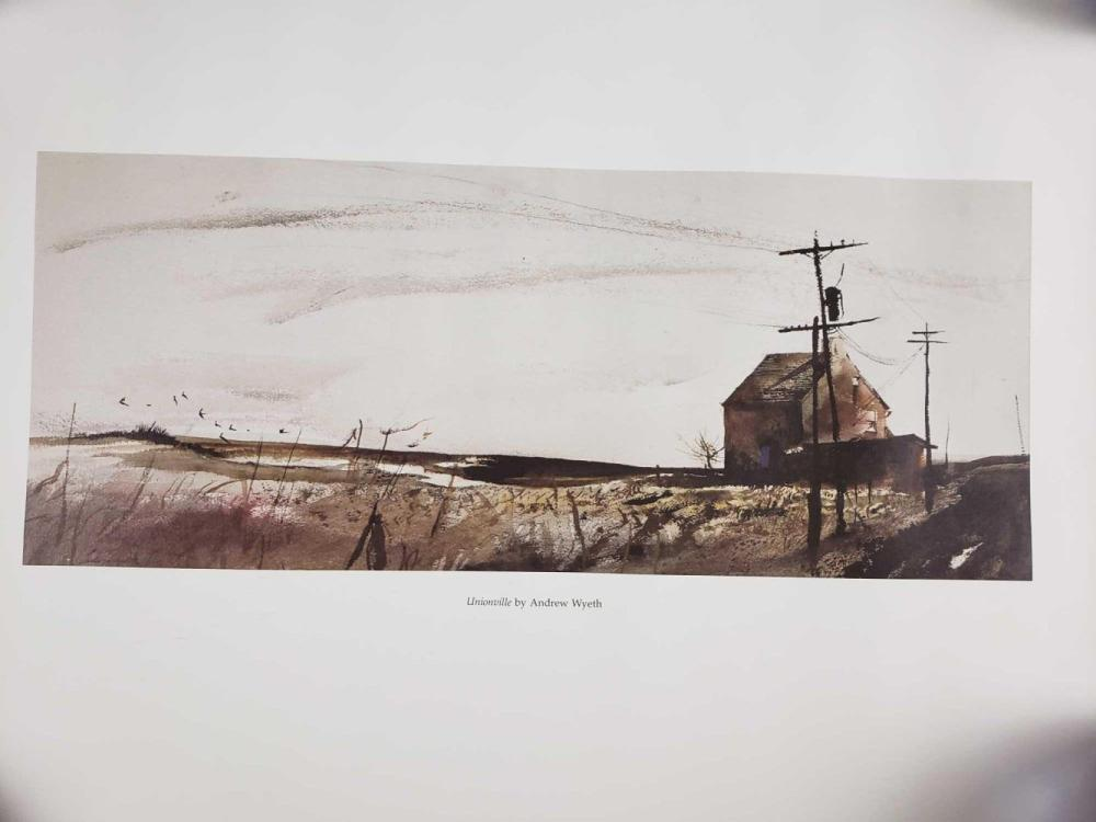 Lot 322: Unionville by Andrew Wyeth Fine Art Poster