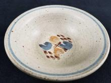 Lot 323: Stone Ware Japanese Bowl with Abstract Pattern