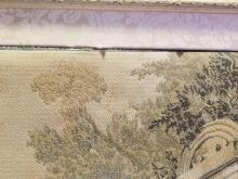 Lot 321: Lovely Antique Early 1900s French Victorian Framed Woven Tapestry