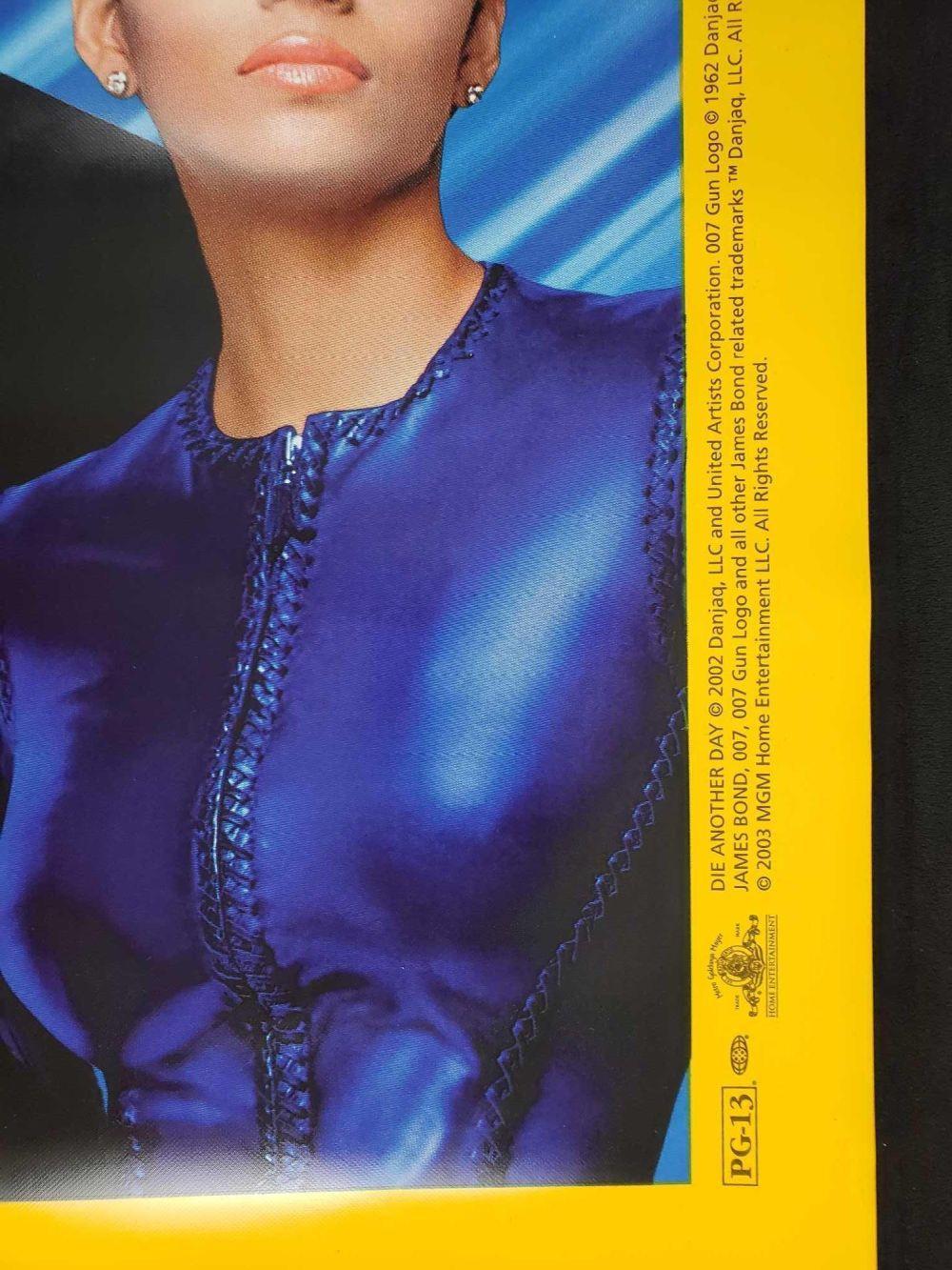 Lot 324: 007 Die Another Day Halle Berry Pierce Brosnan Vinyl Movie Poster