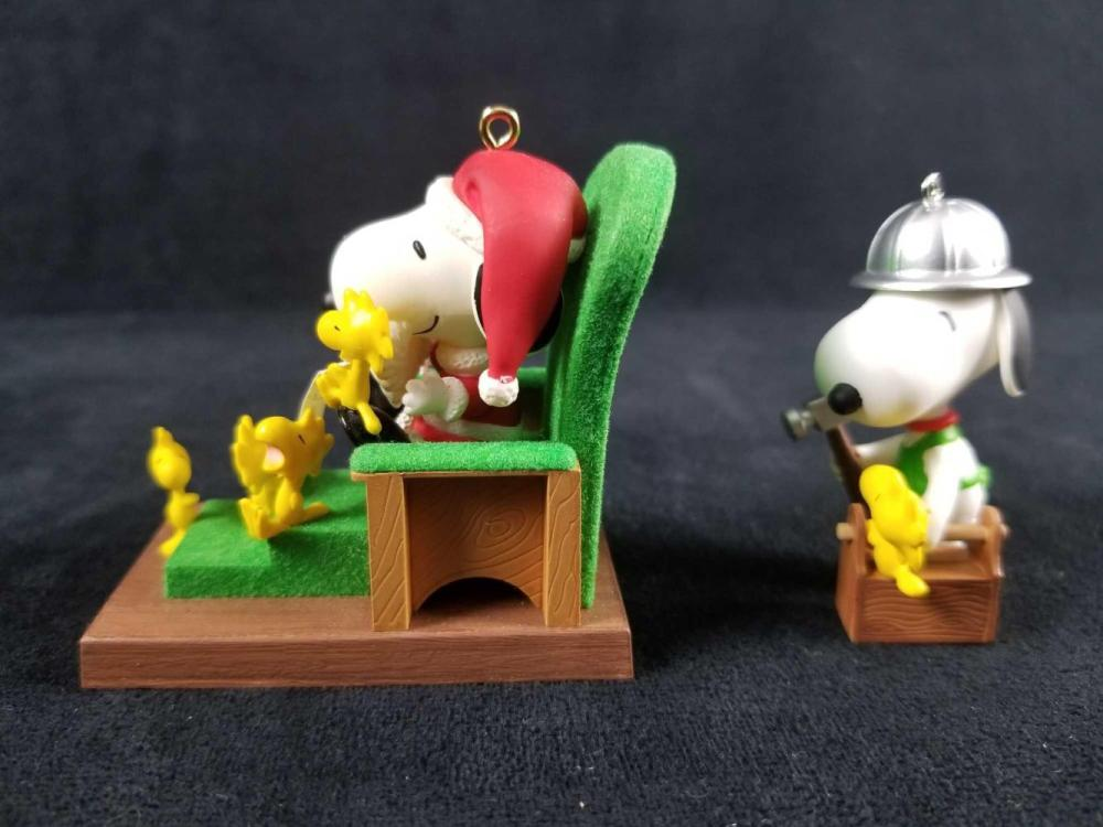 Lot 336: Snoopy Christmas Ornaments Lot of 4