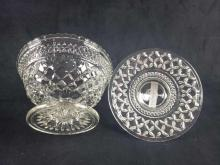 Lot 348: Molded Glass Lidded Footed Candy Dish
