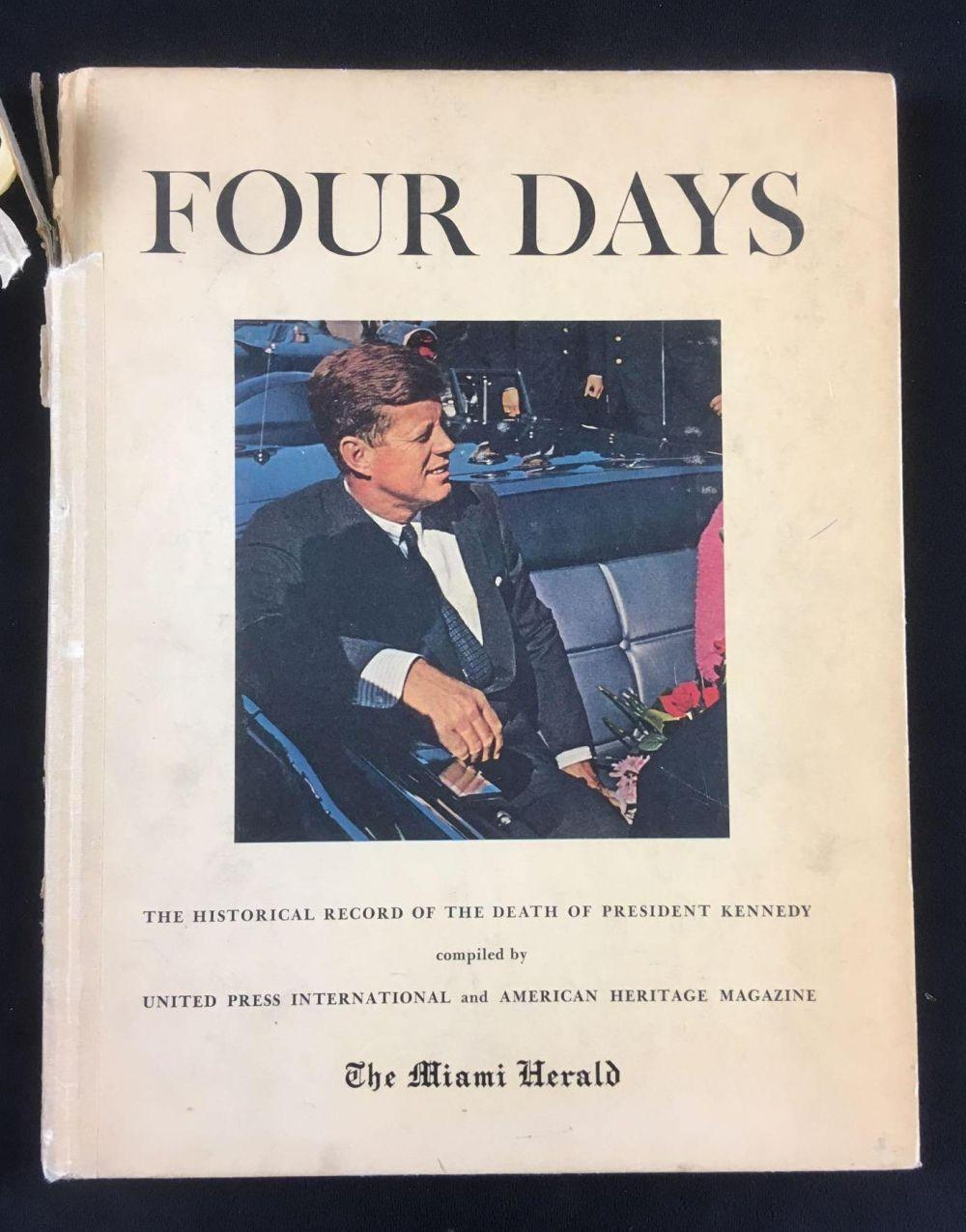 Lot 357: Four Days The Historical Record of the Death of President Kennedy Hardcover Book