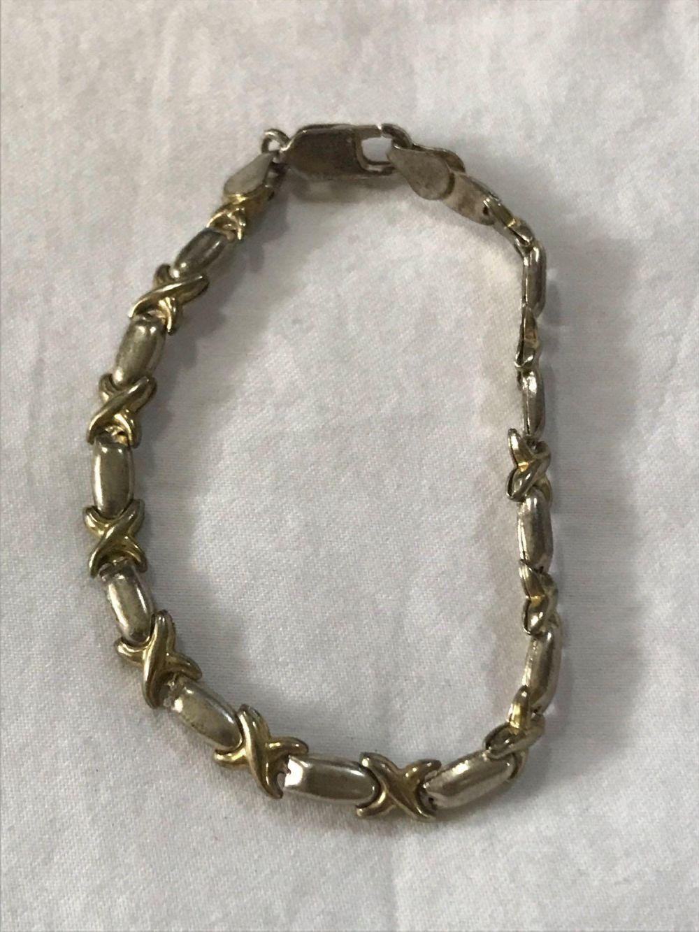 Lot 363: Double Marked Italian Sterling Silver Bracelet