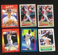 Lot 368: Collection of 6 Vintage Baseball Cards Circa 1990s