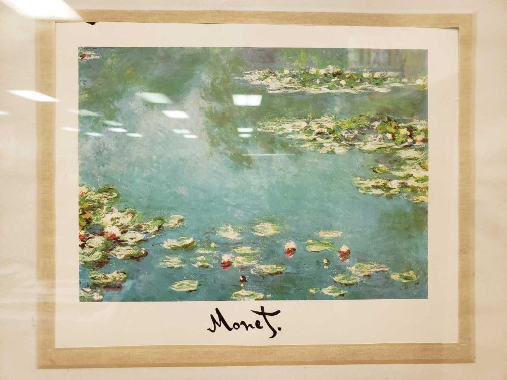 Lot 376: Monet Water Lilies Framed Fine Art Print