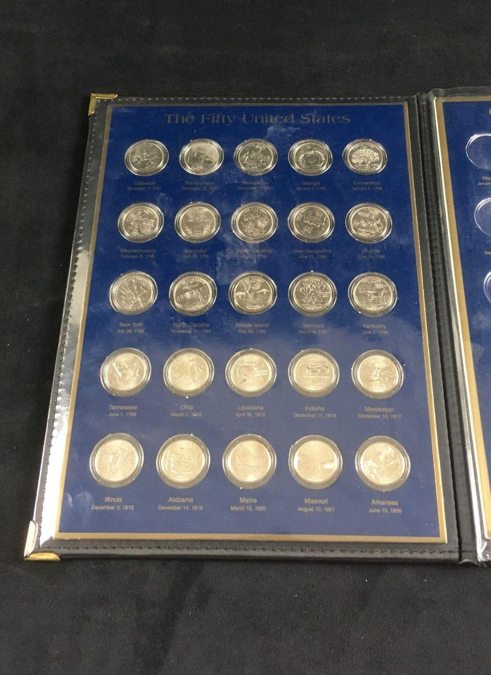 Lot 379: United States CommemorativeGallery Portfolio Quarter Dollar Collection and Golden Dollar Collection