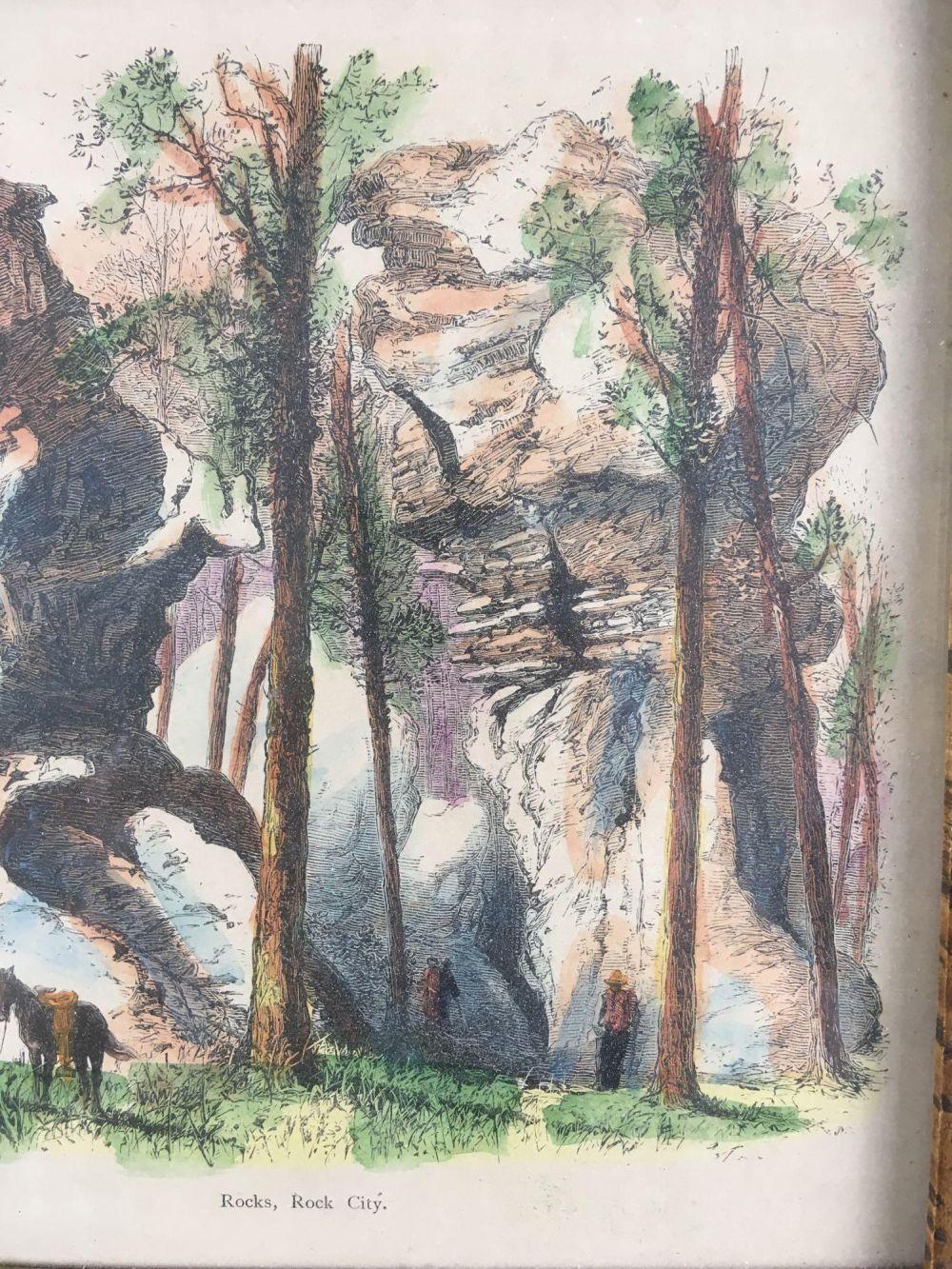 Lot 383: Rocks Rock City Framed Genuine Old Print