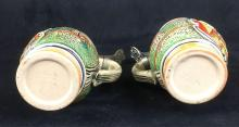 Lot 386: Two Vintage Miniature German Beer Steins with Pewter Lids