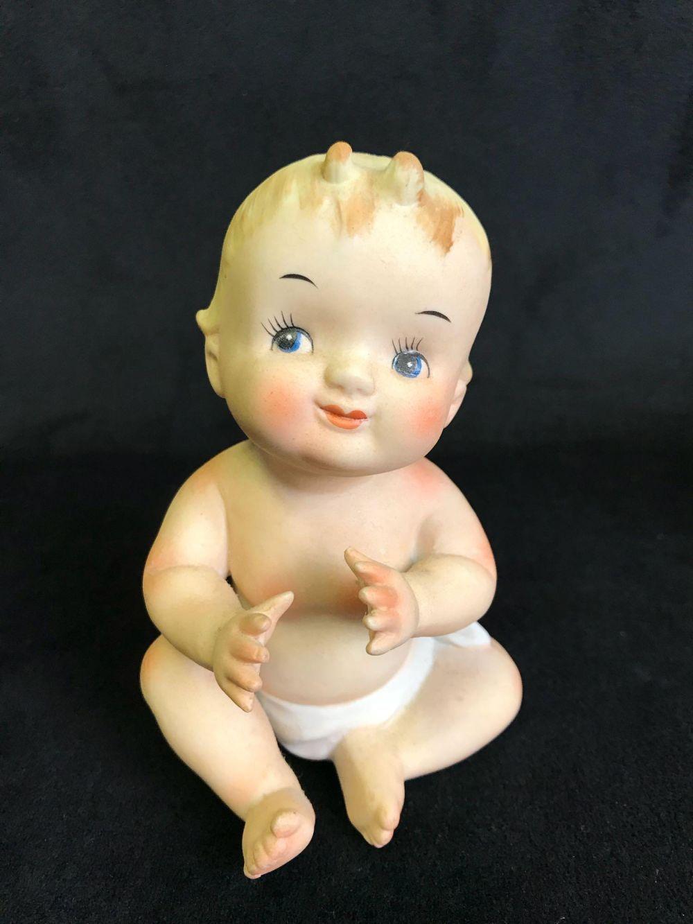 Lot 399: Vintage Lefton Kewpie Baby Porcelain Figurine Collection