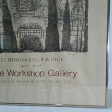 "Lot 405: Signed John A. Knudsen Framed Poster of ""The Workshop Gallery"" 1981"