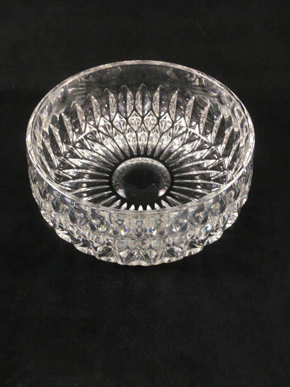 Lot 410: Waterford Clear Crystal Glass Bowl