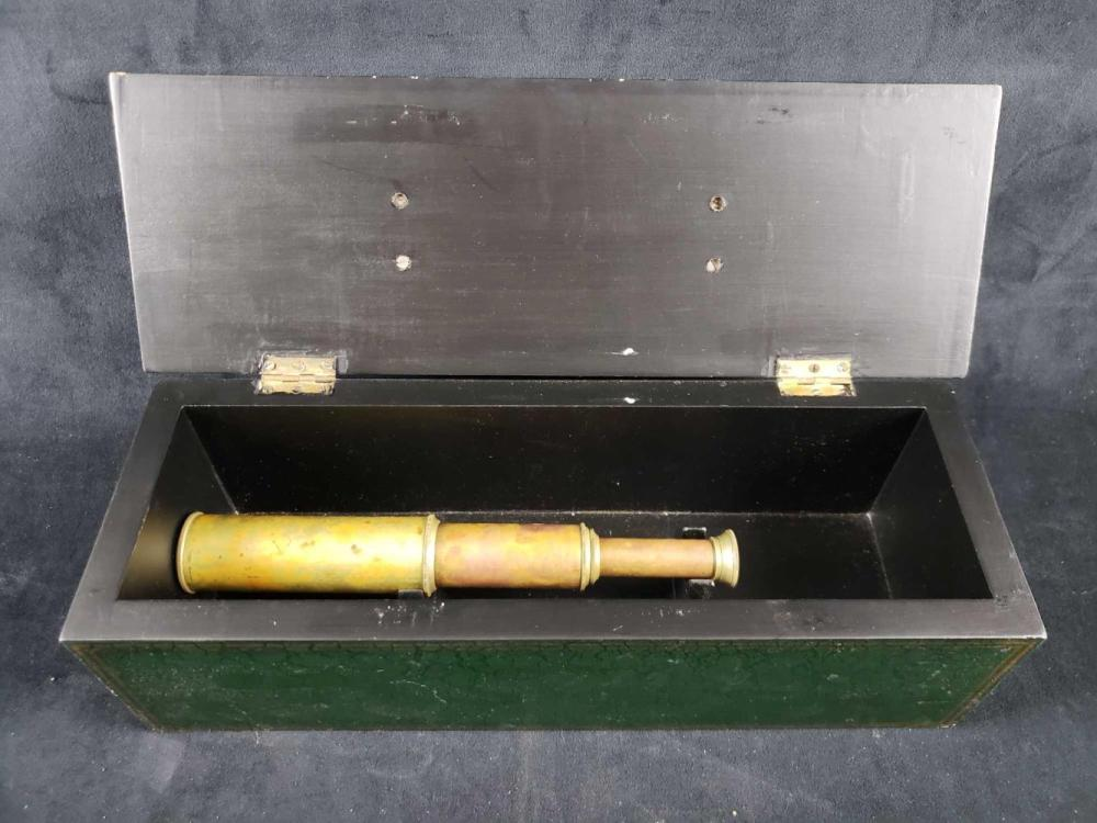 Lot 416: Brass Spyglass Telescope