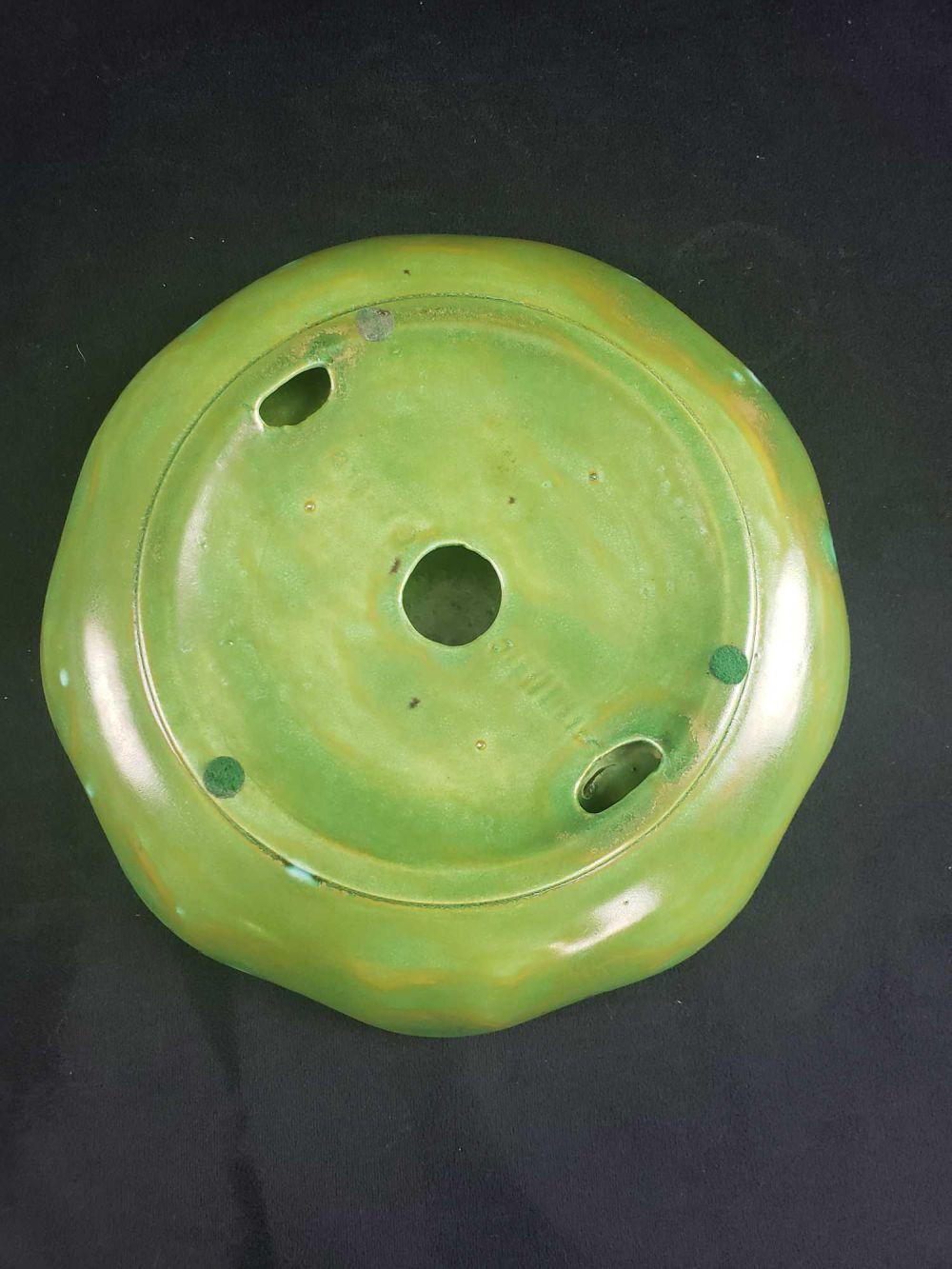 Lot 427: Vintage Ceramic US Navy Dappled Glaze Ashtray