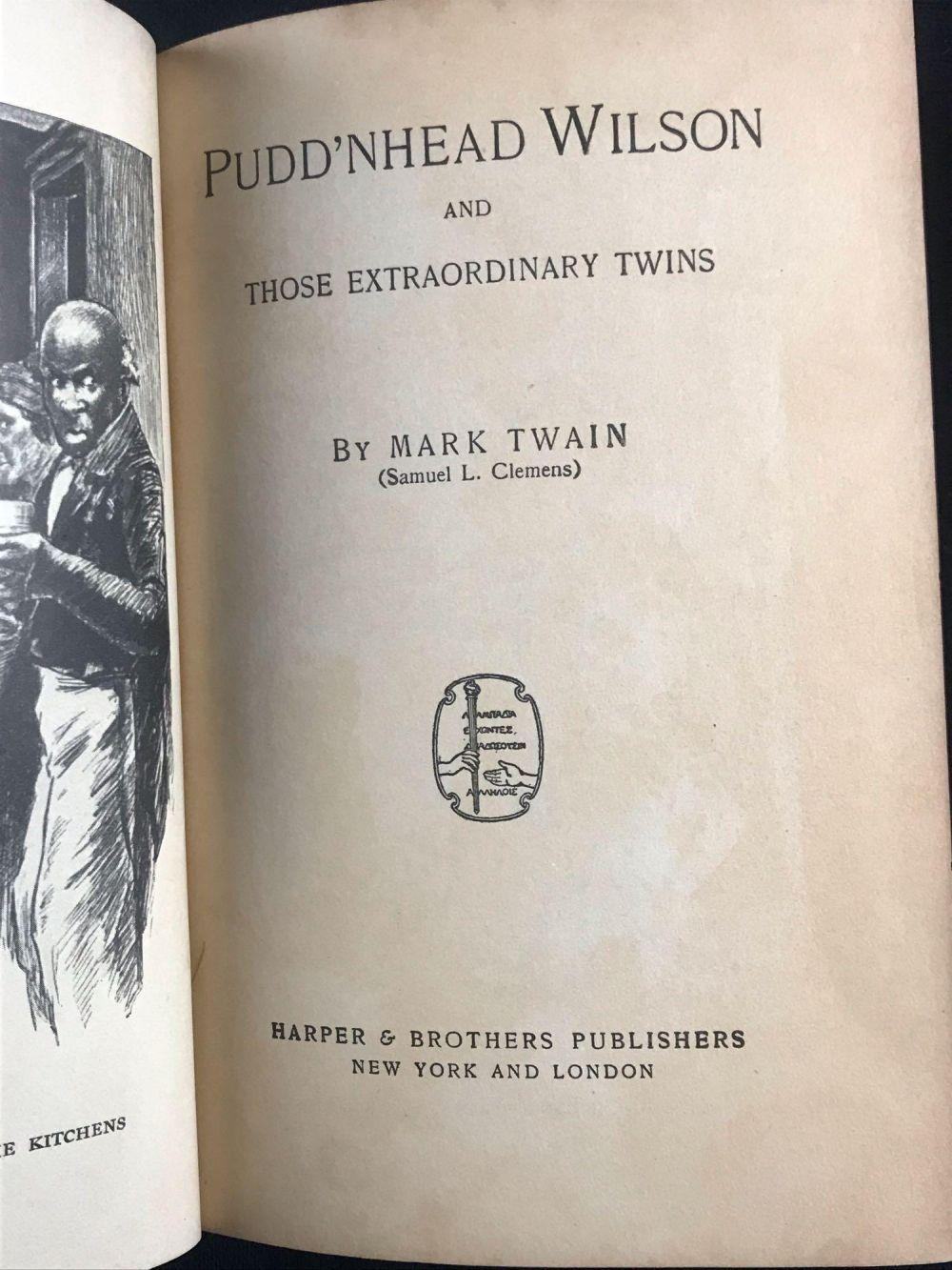 Lot 435: Antique Mark Twain Authorized Hardcover Editions
