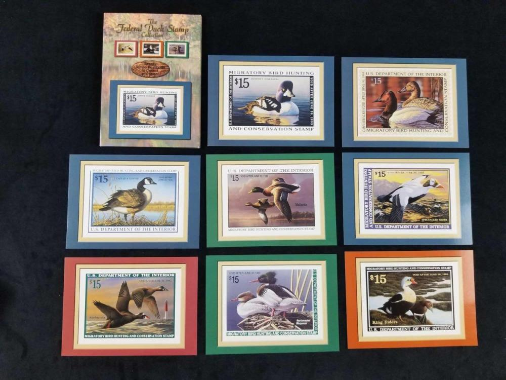 Lot 442: Collection of US Postal Stamp Books and Postcards of 4 Books and 40 Stamps and 50 Stamped Postcards