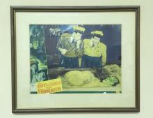 Lot 449: Original Abbot & Costello Film Lobby Window Card