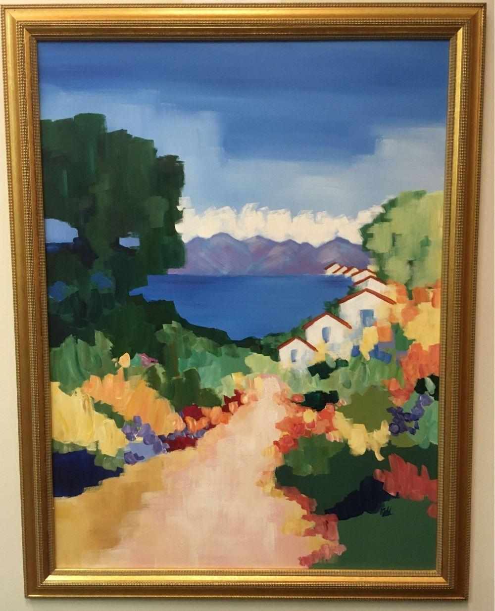 Lot 453: Large Impressionist Landscape Acrylic Painting On Canvas