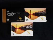 Lot 461: 3 United States Mint Proof Sets 2011 2014 2015 B